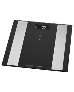 ProfiCare 8 in 1 Glas-Analyse-Waage PC-PW 3007 FA schwarz/edelstahl