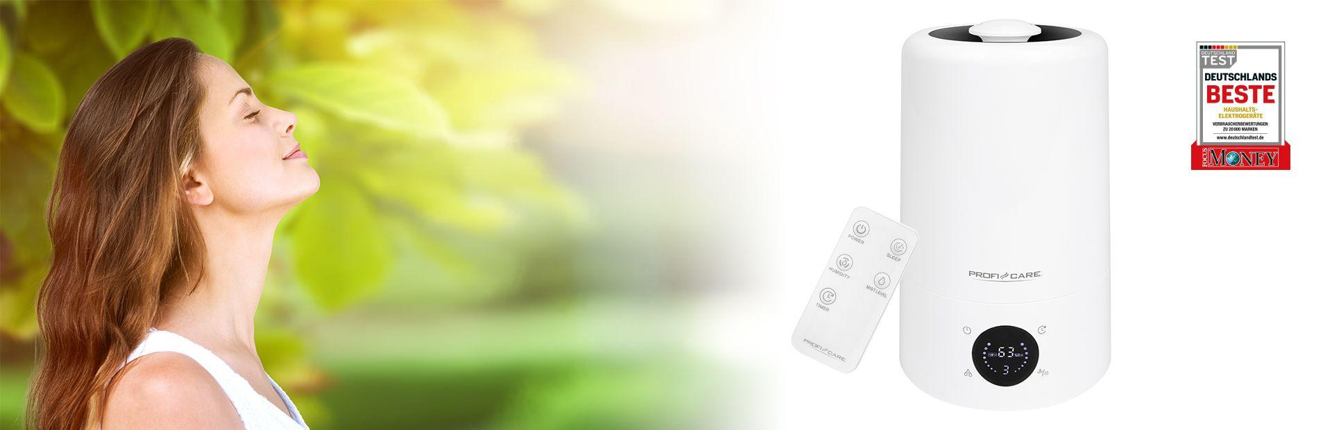 Entdecken Sie jetzt unseren Luftbefeuchter PC-LB 3077 mit Ultraschalltechnologie