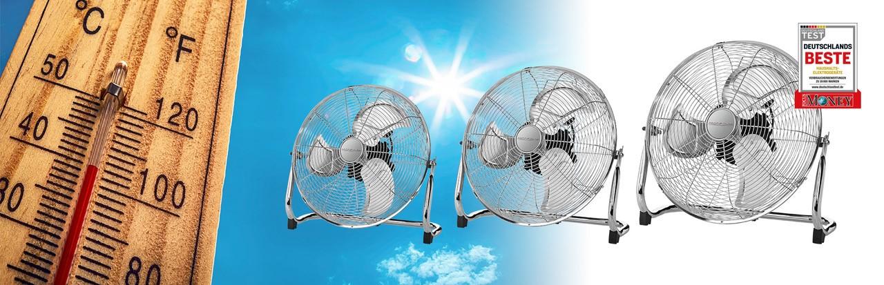 Der Sommer ist da. Dank unseres breiten Sortiments an Ventilatoren und Klimageräten bleibt ihr immer cool.